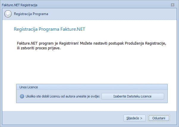 FaktureNET-Registracija
